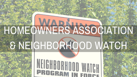 How to do Neighborhood Watch and Homeowners Associations work together