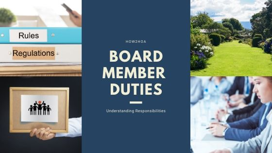Responsibilities of HOA Board Members
