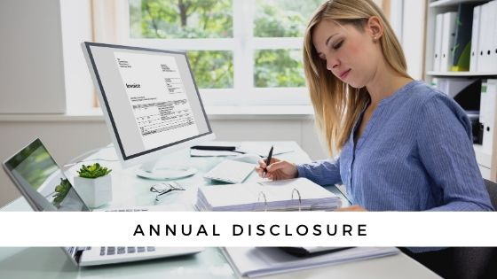 What is An Annual Disclosure?