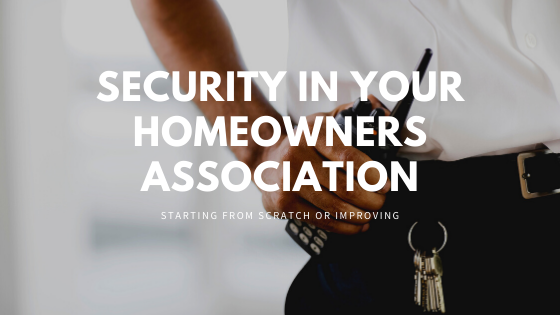 Homeowners Association and Security
