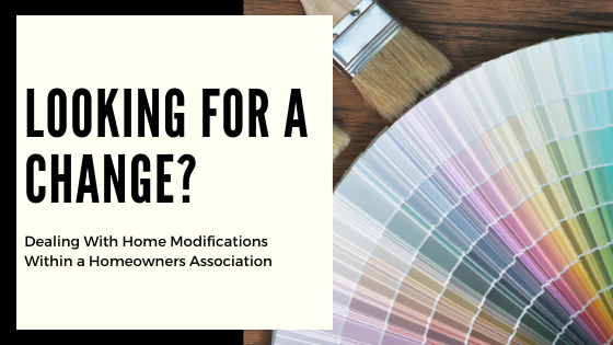 How To Keep Home Modification Within The Association Guidelines
