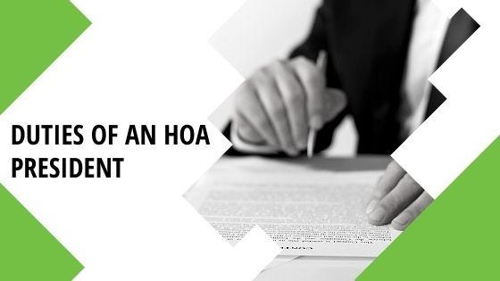 A list of responsibilities of an HOA President Blog Image