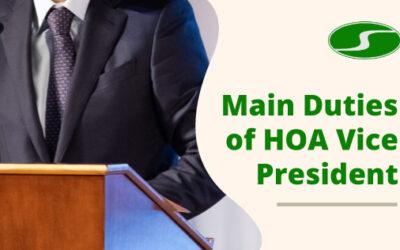 The Main Duties of a HOA Vice President